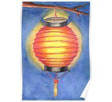 Red Paper Lantern Poster