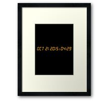 Back To The Future Delorean Numbers Framed Print