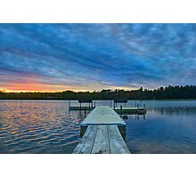 Spring Sunset at the Lake Photographic Print