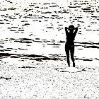 Woman On A Beach by Stan Owen