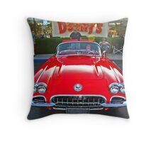 Denny's Car Show Throw Pillow
