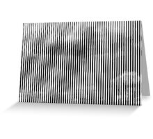 Cloud3frameD -L- White&Black Greeting Card