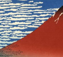 Colorful Fine Wind, Clear Morning Mount Fuji Japan Sticker