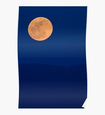 Smoky Mountains Moon Rise Poster