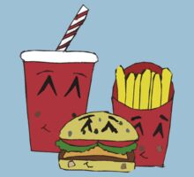 Cute fast food cartoon by Zozzy-zebra