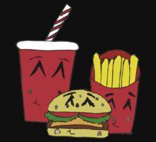 Cute fast food cartoon Baby Tee