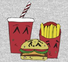 Cute fast food cartoon One Piece - Long Sleeve