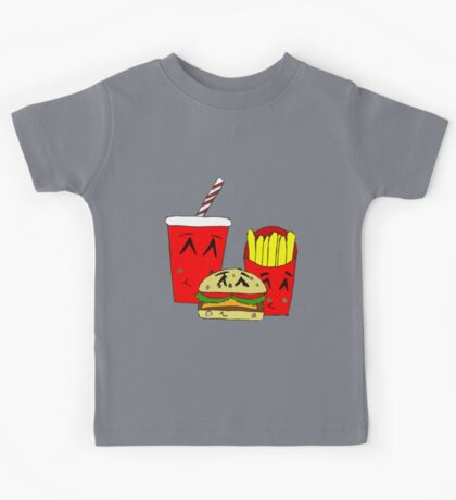 Cute fast food cartoon Kids Tee