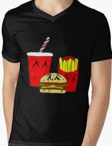 Cute fast food cartoon Mens V-Neck T-Shirt