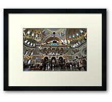 Interior of the Naval Cathedral Framed Print
