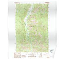 USGS Topo Map Washington State WA Louie Creek 242076 1989 24000 Poster