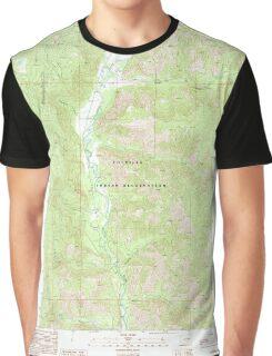 USGS Topo Map Washington State WA Louie Creek 242076 1989 24000 Graphic T-Shirt