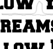 Don't Follow Your Dreams, Follow My Blog Shirt Sticker