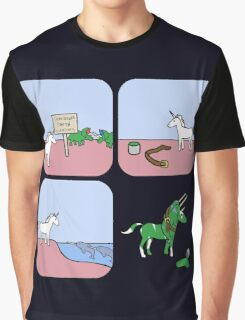 Unicorn and Narwhals as Triceratops - story Graphic T-Shirt