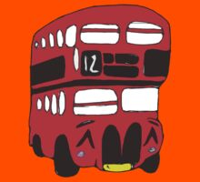 Cute London Bus Kids Clothes