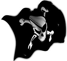 Waving Pirate Flag - Jolly Roger by Gravityx9