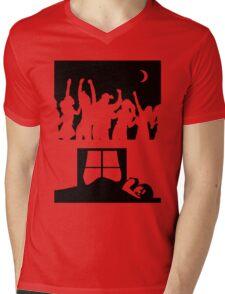 Party All Night - Sleep All Day - Teeshirt Mens V-Neck T-Shirt
