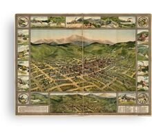 Panoramic Maps Cripple Creek 1896 Canvas Print