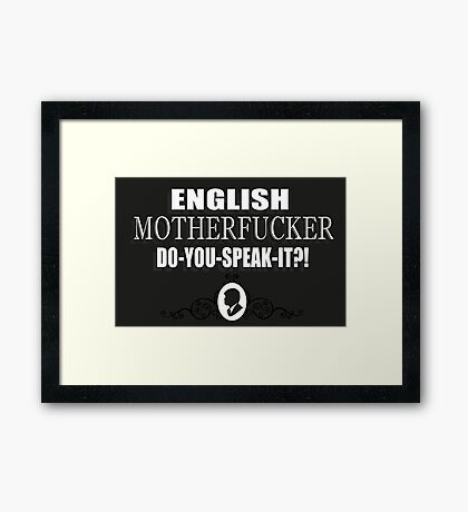 Pulp Fiction quote 3 Framed Print