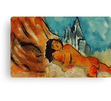 Day dreaming, watercolor Canvas Print