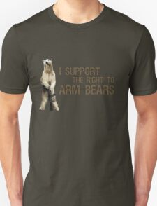 I Support the Right to Arm Bears, Polar Bears T-Shirt
