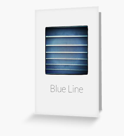 Blue Line - iPhoneography Greeting Card