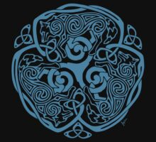 Wolf Celtic Knotwork by Brigid Ashwood