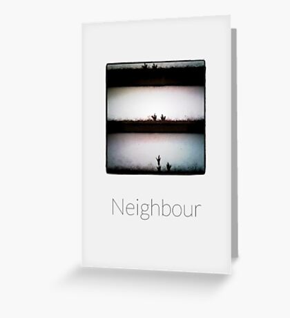 Neighbour - iPhoneography Greeting Card