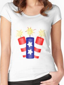 Trio of Firecrackers for the 4th of July  Women's Fitted Scoop T-Shirt