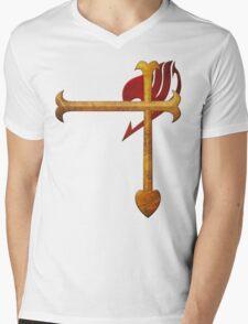 Erza Scarlet Heart Kreuz Mens V-Neck T-Shirt