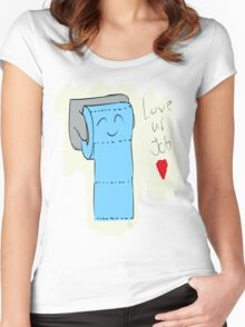 Toilet Paper Women's Fitted Scoop T-Shirt