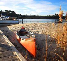 Canoe at Lakes Entrance Australia by mechelle142