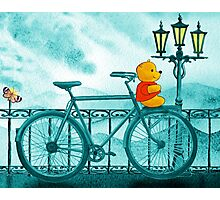 Bicycle And Bear Photographic Print
