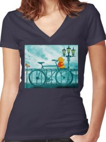 Bicycle And Bear Women's Fitted V-Neck T-Shirt