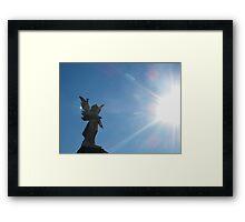 Angel in the light Framed Print