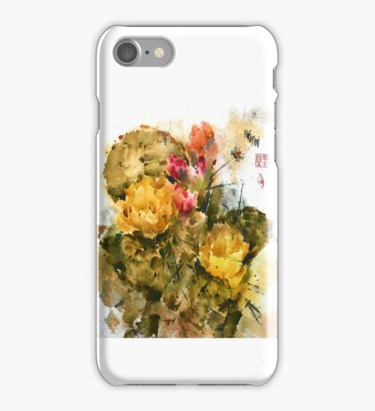 Southwest Sumi- Prickley Pear iPhone Case/Skin