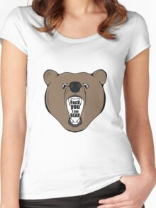 Bears Are Awesome. Women's Fitted Scoop T-Shirt