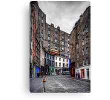 Looking up West Bow Canvas Print