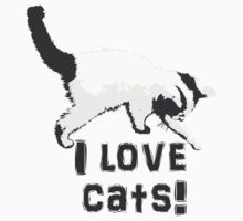 I love cats! (Black & White) Baby Tee