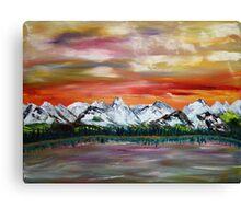 The Lake at Sunset Canvas Print