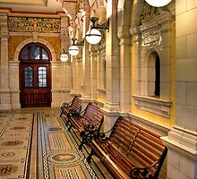 The Booking Hall at Dunedin Railway Station (1) by Christine Smith