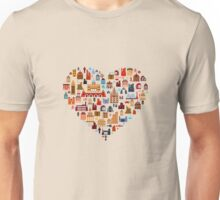 Lovely heart Unisex T-Shirt