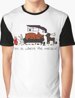 Messy House Animals V2 Graphic T-Shirt