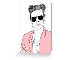 Space Bun Harry  Greeting Card