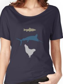 The Marlin, the Trout, and the Chicken Women's Relaxed Fit T-Shirt