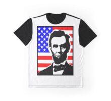 PRES. ABRAHAM LINCOLN-FLAG Graphic T-Shirt