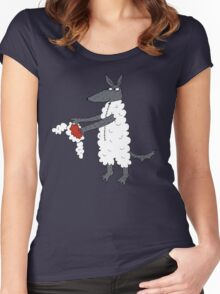 Mr Wolf's dinner suit. Women's Fitted Scoop T-Shirt