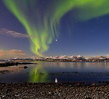 Aurora and Venus reflection by Frank Olsen