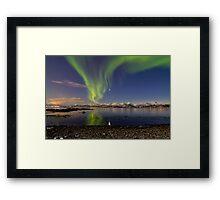 Aurora and Venus reflection Framed Print