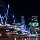 Brisbane's Kurilpa Bridge at Night by PhotoJoJo